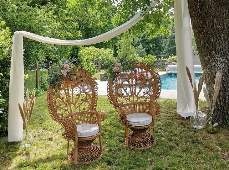 location matériel cérémonie laïque fauteuils Emmanuelle